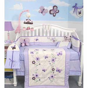 Soho Lavender Flower Garden Baby  Nursery Bedding Set