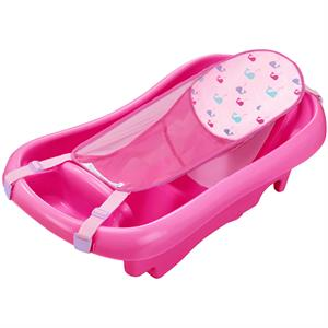 Rental The First Years Sure Comfort Deluxe Newborn to Toddler Tub, Pink