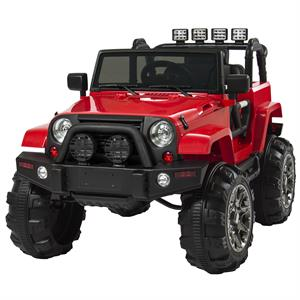 Rental Best Choice Products 12V Ride On Car Truck w/ Remote Control, 3 Speeds, Spring Suspension, LED Lights, Red