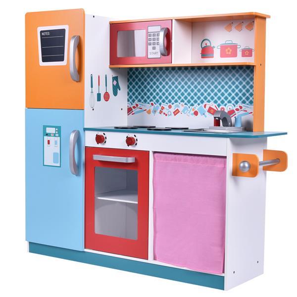 Rent CostwayWood Kitchen Toy Kids Cooking Pretend Play Set ...