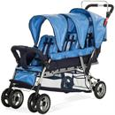 Triple strollers Child Craft Trio 3-Passenger Sport Stroller, Regatta Blue