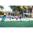 Sportspower Outdoor Live Oak Metal Swing and Slide Set