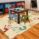 Play time items for kids Orian Handprints Fun Kids Area Rug