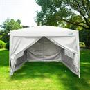Quictent Silvox Waterproof EZ Pop Up Canopy Commercial Gazebo Party Tent Silver Portable Style Removable Sides With Roller Bag